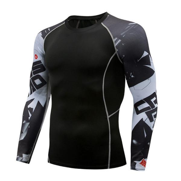 コンプレッションウェア メンズ 運動着 長袖 加圧シャツ アンダーシャツ スポーツウェア 加圧インナー 加圧レギンス トレーニングウェア 速乾|otasukemann|19