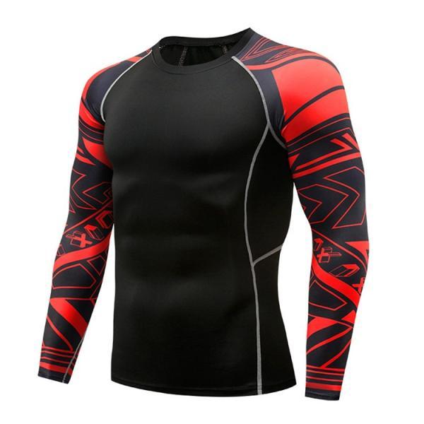 コンプレッションウェア メンズ 運動着 長袖 加圧シャツ アンダーシャツ スポーツウェア 加圧インナー 加圧レギンス トレーニングウェア 速乾|otasukemann|20