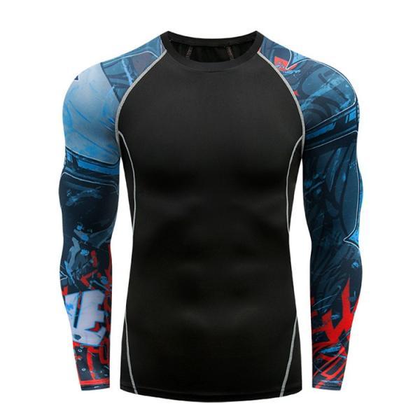 コンプレッションウェア メンズ 運動着 長袖 加圧シャツ アンダーシャツ スポーツウェア 加圧インナー 加圧レギンス トレーニングウェア 速乾|otasukemann|11
