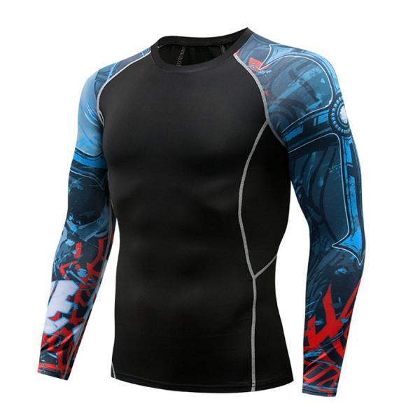 コンプレッションウェア メンズ 運動着 長袖 加圧シャツ アンダーシャツ スポーツウェア 加圧インナー 加圧レギンス トレーニングウェア 速乾|otasukemann|14