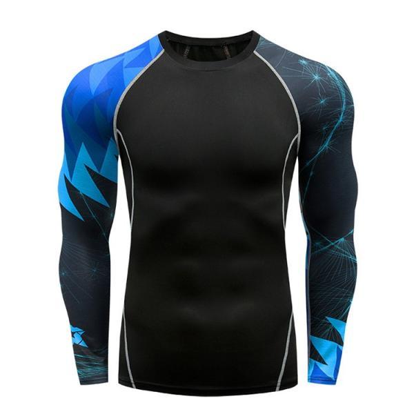 コンプレッションウェア メンズ 運動着 長袖 加圧シャツ アンダーシャツ スポーツウェア 加圧インナー 加圧レギンス トレーニングウェア 速乾|otasukemann|03