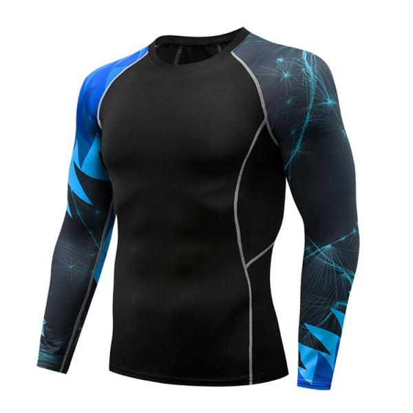 コンプレッションウェア メンズ 運動着 長袖 加圧シャツ アンダーシャツ スポーツウェア 加圧インナー 加圧レギンス トレーニングウェア 速乾|otasukemann|15