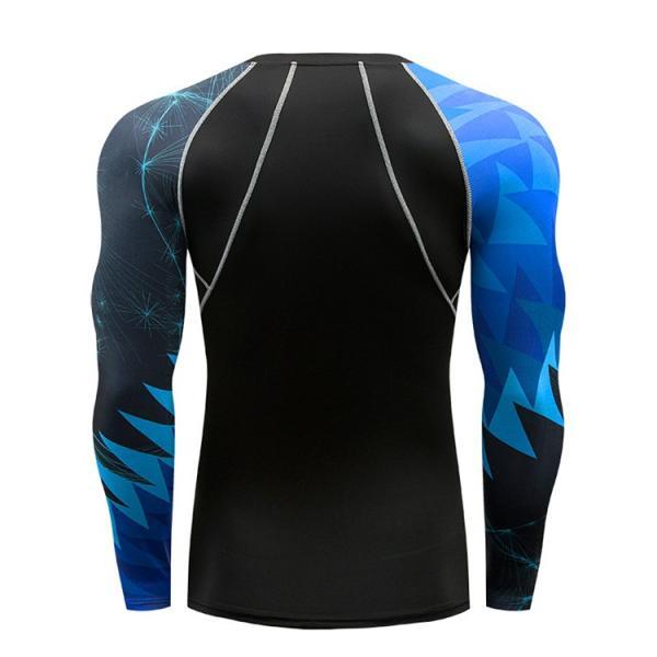 コンプレッションウェア メンズ 運動着 長袖 加圧シャツ アンダーシャツ スポーツウェア 加圧インナー 加圧レギンス トレーニングウェア 速乾|otasukemann|04