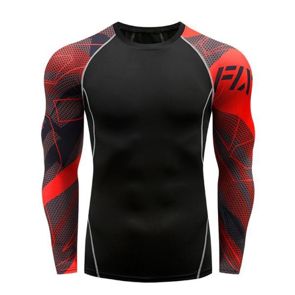 コンプレッションウェア メンズ 運動着 長袖 加圧シャツ アンダーシャツ スポーツウェア 加圧インナー 加圧レギンス トレーニングウェア 速乾|otasukemann|05