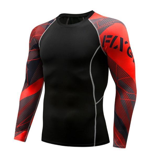 コンプレッションウェア メンズ 運動着 長袖 加圧シャツ アンダーシャツ スポーツウェア 加圧インナー 加圧レギンス トレーニングウェア 速乾|otasukemann|16