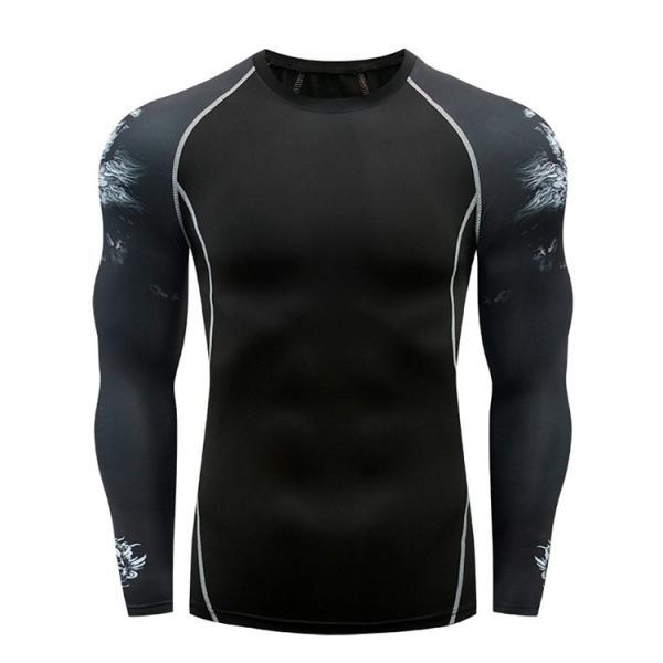コンプレッションウェア メンズ 運動着 長袖 加圧シャツ アンダーシャツ スポーツウェア 加圧インナー 加圧レギンス トレーニングウェア 速乾|otasukemann|06