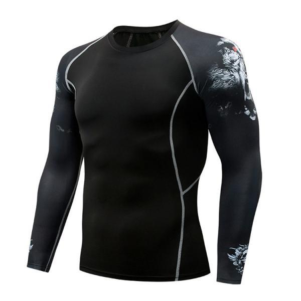 コンプレッションウェア メンズ 運動着 長袖 加圧シャツ アンダーシャツ スポーツウェア 加圧インナー 加圧レギンス トレーニングウェア 速乾|otasukemann|17