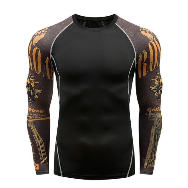コンプレッションウェア メンズ 運動着 長袖 加圧シャツ アンダーシャツ スポーツウェア 加圧インナー 加圧レギンス トレーニングウェア 速乾|otasukemann|07