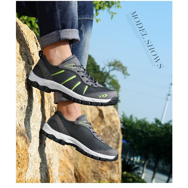 ランニングシューズ トレッキングシューズ メンズ 登山靴 アウトドア ウォーキング メンズ靴 スポーツ 山登り 軽量 滑り止め|otasukemann|14