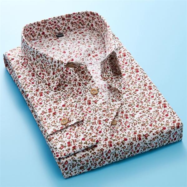 50代ファション 長袖シャツ メンズシャツ 春服 お兄系 カジュアルウンシャツ 花柄シャツ 開襟シャツ ルームウェア|otasukemann|10