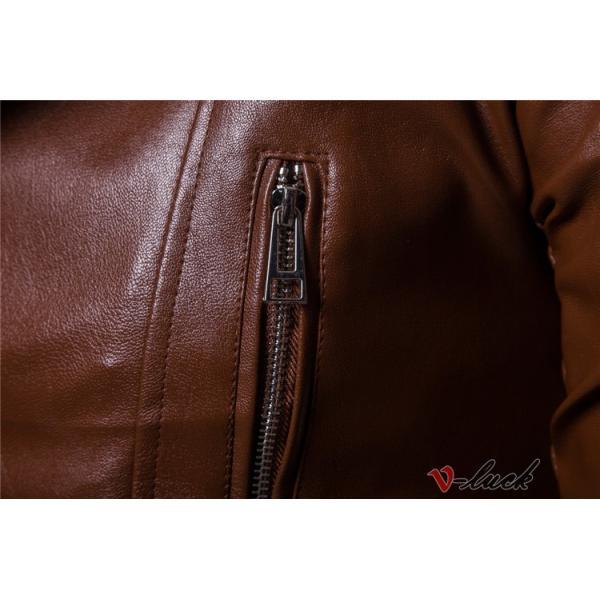 ライダースジャケット 革ジャン メンズ レザージャケット ジャケット 革ジャケット バイクウェア カジュアル おしゃれ 春物 セール|otasukemann|11