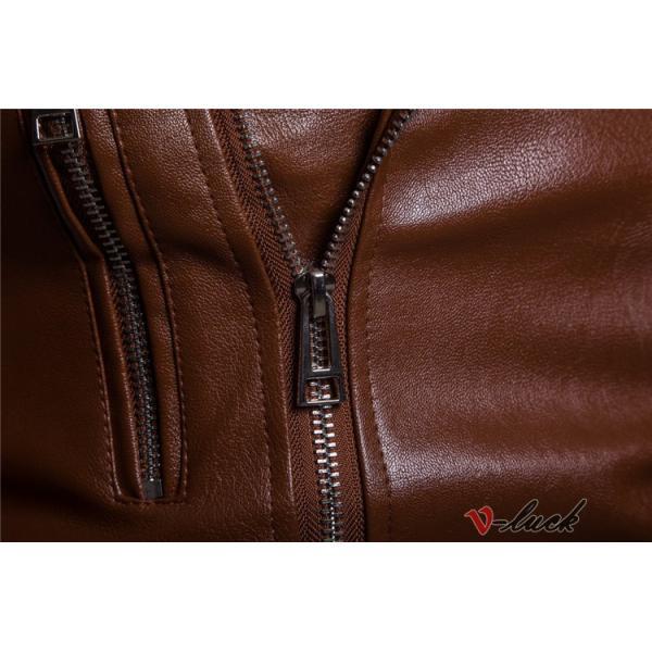 ライダースジャケット 革ジャン メンズ レザージャケット ジャケット 革ジャケット バイクウェア カジュアル おしゃれ 春物 セール|otasukemann|14