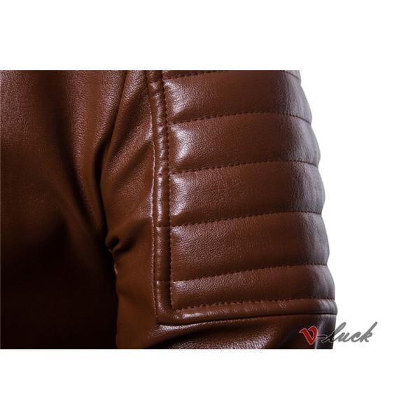 ライダースジャケット 革ジャン メンズ レザージャケット ジャケット 革ジャケット バイクウェア カジュアル おしゃれ 春物 セール|otasukemann|15