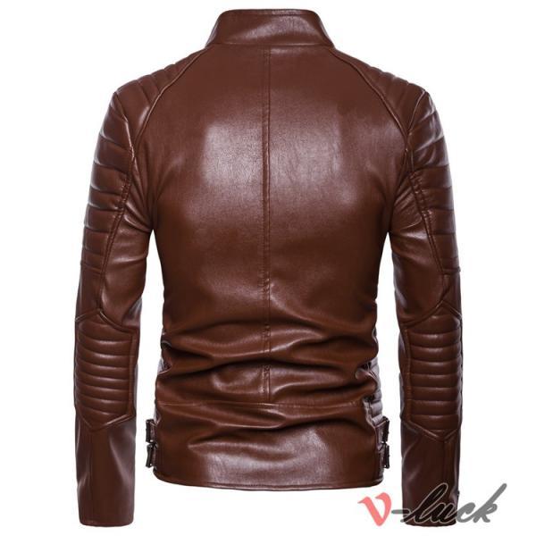 ライダースジャケット 革ジャン メンズ レザージャケット ジャケット 革ジャケット バイクウェア カジュアル おしゃれ 春物 セール|otasukemann|09