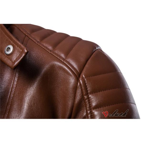 ライダースジャケット 革ジャン メンズ レザージャケット ジャケット 革ジャケット バイクウェア カジュアル おしゃれ 春物 セール|otasukemann|10