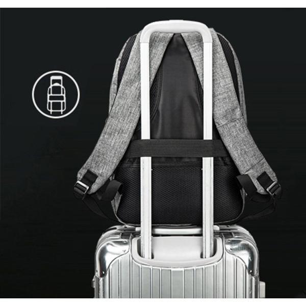 バックで携帯充電 リュックサック ビジネスリュック メンズバック パソコンバック USB充電口付き バックパック 通勤 通学 旅行 セール|otasukemann|17