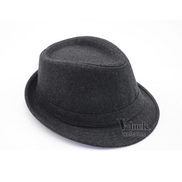 中折れ帽 メンズ 帽子 おしゃれ ハット 中折れハット 紫外線防止 日よけ帽子 紳士用 フェルトハット 頭周り58CM 2019 セール|otasukemann|10