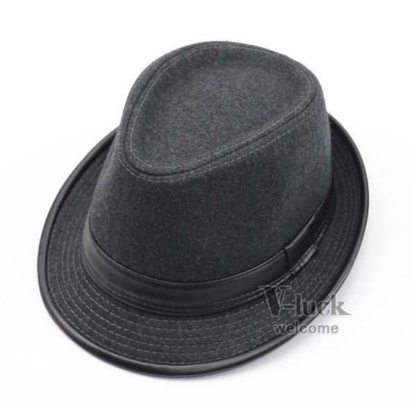 中折れ帽 メンズ 帽子 おしゃれ ハット 中折れハット 紫外線防止 日よけ帽子 紳士用 フェルトハット 頭周り58CM 2019 セール|otasukemann|21
