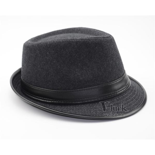 中折れ帽 メンズ 帽子 おしゃれ ハット 中折れハット 紫外線防止 日よけ帽子 紳士用 フェルトハット 頭周り58CM 2019 セール|otasukemann|11