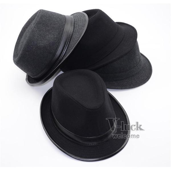 中折れ帽 メンズ 帽子 おしゃれ ハット 中折れハット 紫外線防止 日よけ帽子 紳士用 フェルトハット 頭周り58CM 2019 セール|otasukemann|03