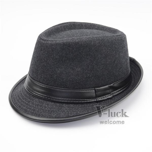 中折れ帽 メンズ 帽子 おしゃれ ハット 中折れハット 紫外線防止 日よけ帽子 紳士用 フェルトハット 頭周り58CM 2019 セール|otasukemann|04