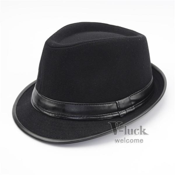 中折れ帽 メンズ 帽子 おしゃれ ハット 中折れハット 紫外線防止 日よけ帽子 紳士用 フェルトハット 頭周り58CM 2019 セール|otasukemann|06