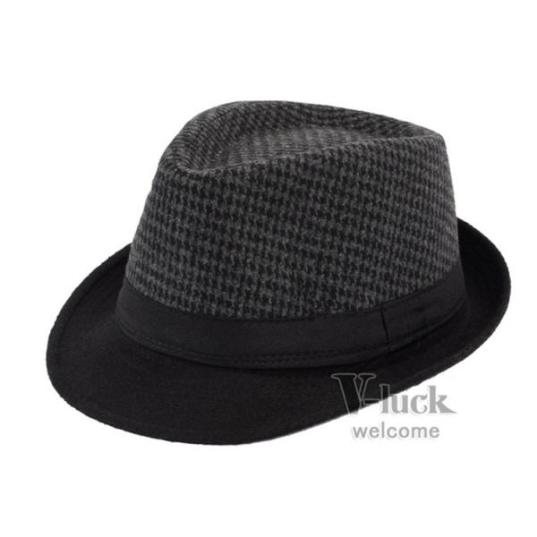 中折れ帽 メンズ 帽子 おしゃれ ハット 中折れハット 紫外線防止 日よけ帽子 紳士用 フェルトハット 頭周り58CM 2019 セール|otasukemann|20