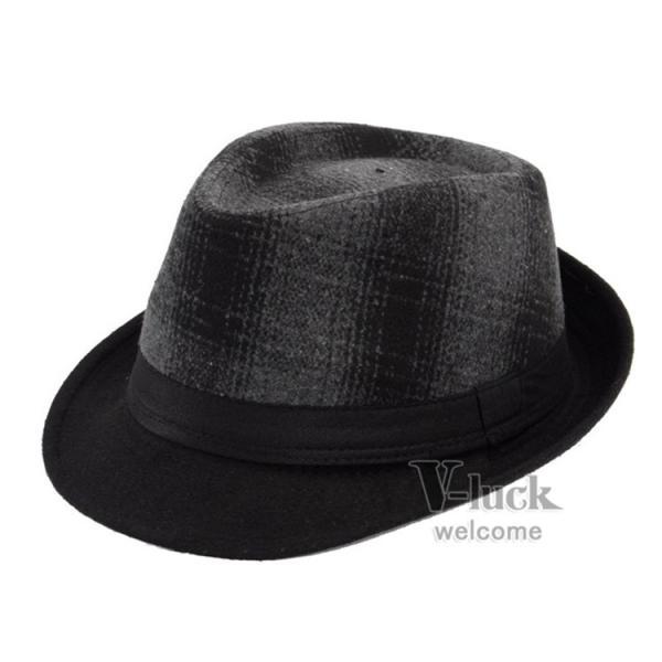 中折れ帽 メンズ 帽子 おしゃれ ハット 中折れハット 紫外線防止 日よけ帽子 紳士用 フェルトハット 頭周り58CM 2019 セール|otasukemann|07