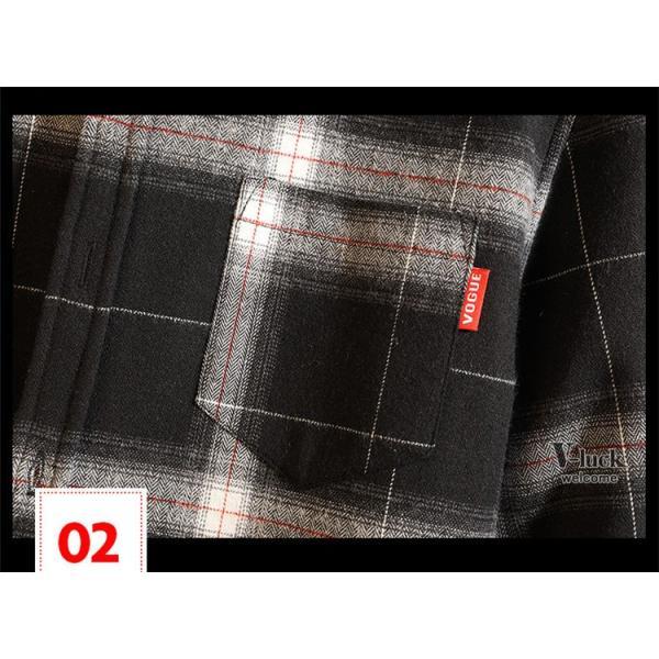 チェック柄 シャツ メンズ カジュアルシャツ 長袖シャツ トップス ネルシャツ オシャレ お兄系 春物|otasukemann|05
