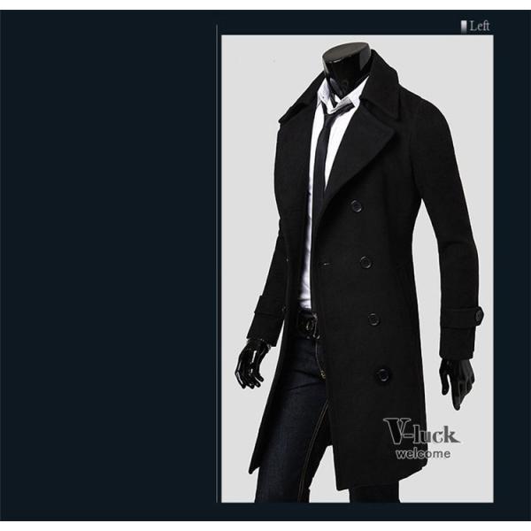 チェスターコート メンズ アウター ビジネスコート ステンカラーコート ロングコート ジャケット 通勤 秋物 送料無料|otasukemann|11