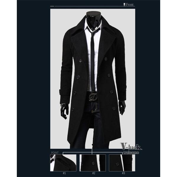 チェスターコート メンズ アウター ビジネスコート ステンカラーコート ロングコート ジャケット 通勤 秋物 送料無料|otasukemann|10