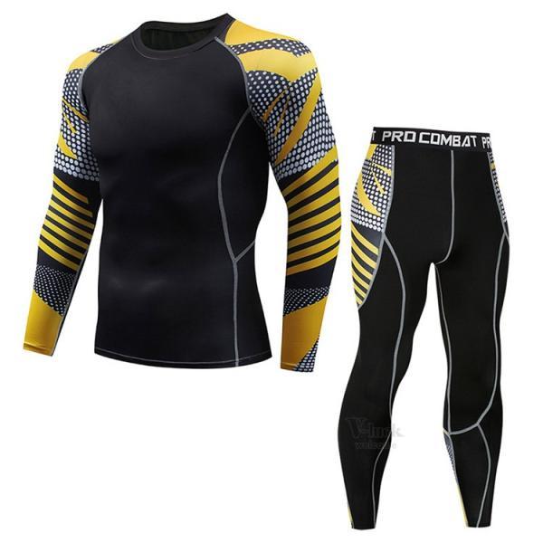 スポーツウェア メンズ コンプレッションウェア セットアップ トレーニングウェア ロングタイツ 長袖 加圧インナー ジャージ 速乾 送料無料|otasukemann|12
