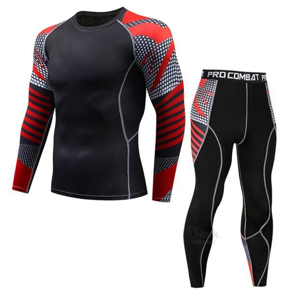 スポーツウェア メンズ コンプレッションウェア セットアップ トレーニングウェア ロングタイツ 長袖 加圧インナー ジャージ 速乾 送料無料|otasukemann|13