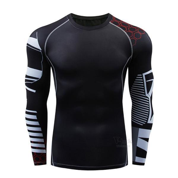 スポーツウェア メンズ コンプレッションウェア セットアップ トレーニングウェア ロングタイツ 長袖 加圧インナー ジャージ 速乾 送料無料|otasukemann|15