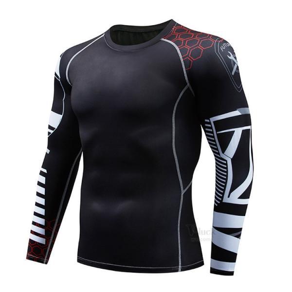 スポーツウェア メンズ コンプレッションウェア セットアップ トレーニングウェア ロングタイツ 長袖 加圧インナー ジャージ 速乾 送料無料|otasukemann|16