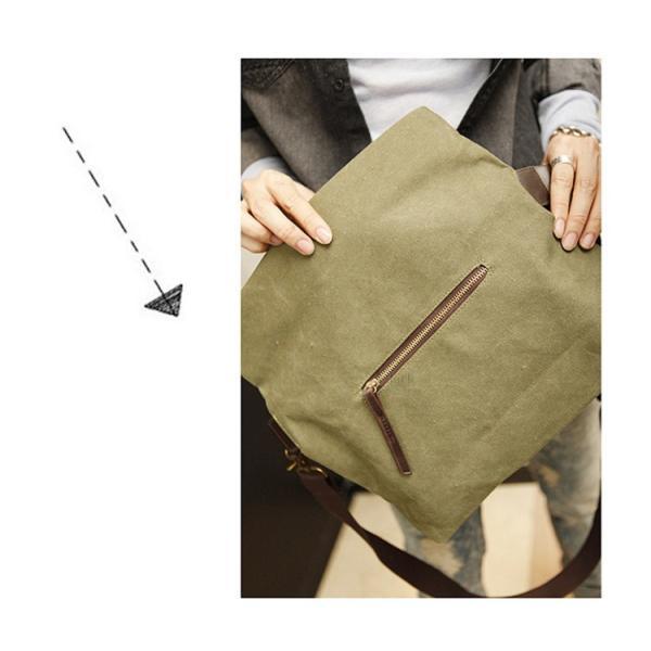 斜めがけ メンズ ショルダーバッグ メッセンジャーバッグ 口折れ バック かばん ポシェット 斜め掛け 2Wayバッグ 鞄|otasukemann|14