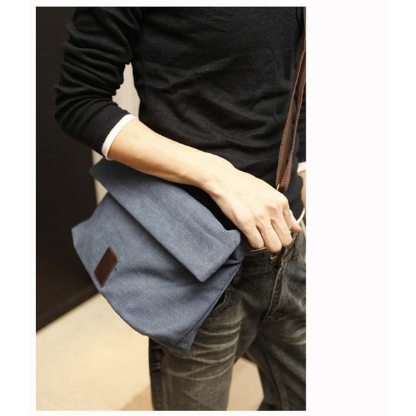 斜めがけ メンズ ショルダーバッグ メッセンジャーバッグ 口折れ バック かばん ポシェット 斜め掛け 2Wayバッグ 鞄|otasukemann|04