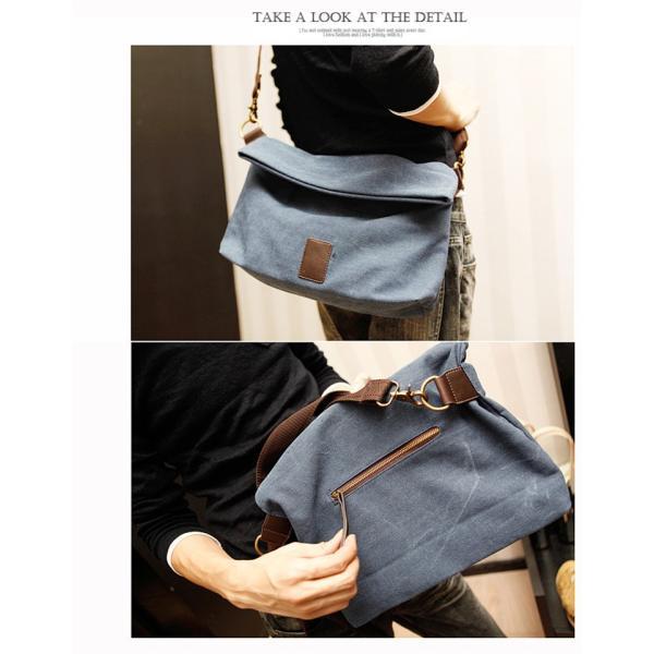 斜めがけ メンズ ショルダーバッグ メッセンジャーバッグ 口折れ バック かばん ポシェット 斜め掛け 2Wayバッグ 鞄|otasukemann|05