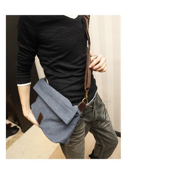 斜めがけ メンズ ショルダーバッグ メッセンジャーバッグ 口折れ バック かばん ポシェット 斜め掛け 2Wayバッグ 鞄|otasukemann|07