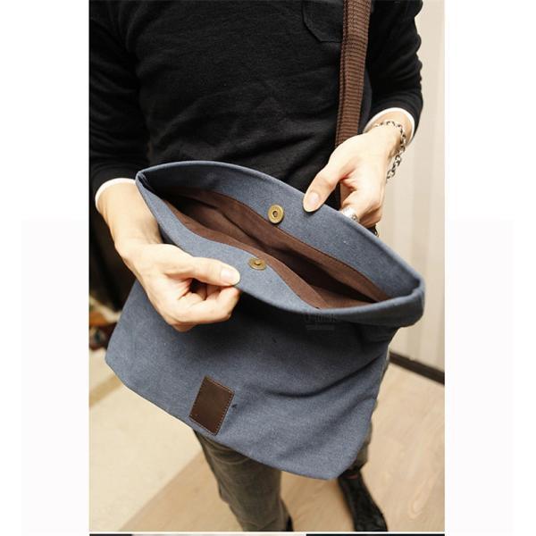 斜めがけ メンズ ショルダーバッグ メッセンジャーバッグ 口折れ バック かばん ポシェット 斜め掛け 2Wayバッグ 鞄|otasukemann|09