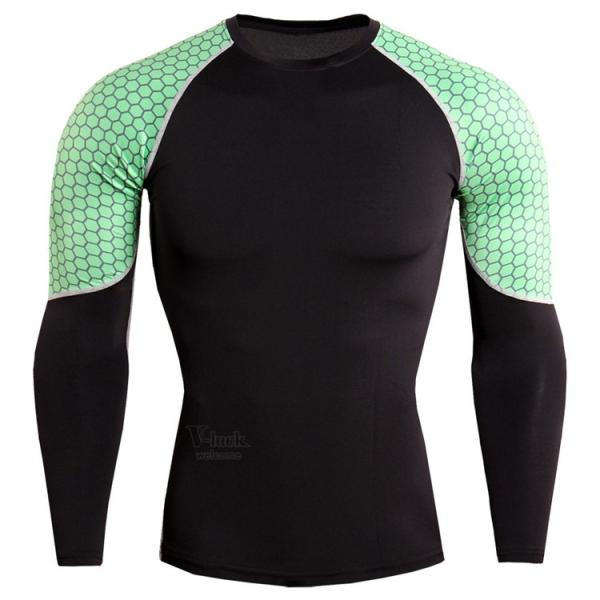 レーシングシャツ 加圧シャツ メンズ 加圧インナー コンプレッションウェア インナーシャツ アンダーシャツ ジャージ 速乾吸汗 otasukemann 15