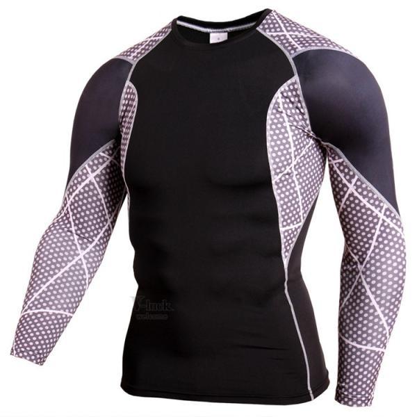 レーシングシャツ 加圧シャツ メンズ 加圧インナー コンプレッションウェア インナーシャツ アンダーシャツ ジャージ 速乾吸汗 otasukemann 04