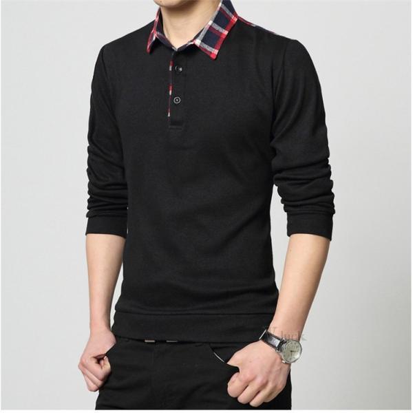 カジュアル ポロシャツ メンズ 長袖ポロシャツ Tシャツ POLOシャツ ゴルフシャツ 長袖 春 ルームウェア スポーツ|otasukemann|13
