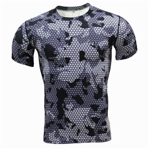 レーシングシャツ フィットネスウェア メンズ Tシャツ 半袖 コンプレッションウェア トップス 加圧シャツ アンダーシャツ トレーニング 吸汗速乾|otasukemann|11
