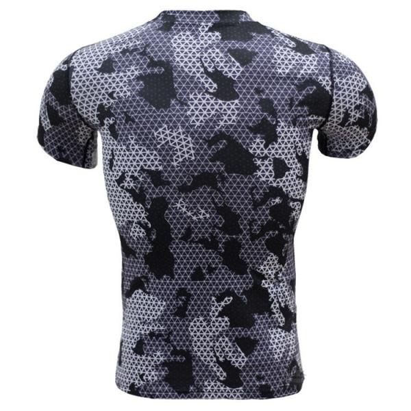 レーシングシャツ フィットネスウェア メンズ Tシャツ 半袖 コンプレッションウェア トップス 加圧シャツ アンダーシャツ トレーニング 吸汗速乾|otasukemann|12