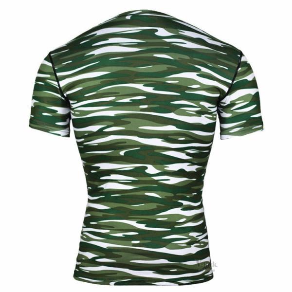 レーシングシャツ フィットネスウェア メンズ Tシャツ 半袖 コンプレッションウェア トップス 加圧シャツ アンダーシャツ トレーニング 吸汗速乾|otasukemann|14