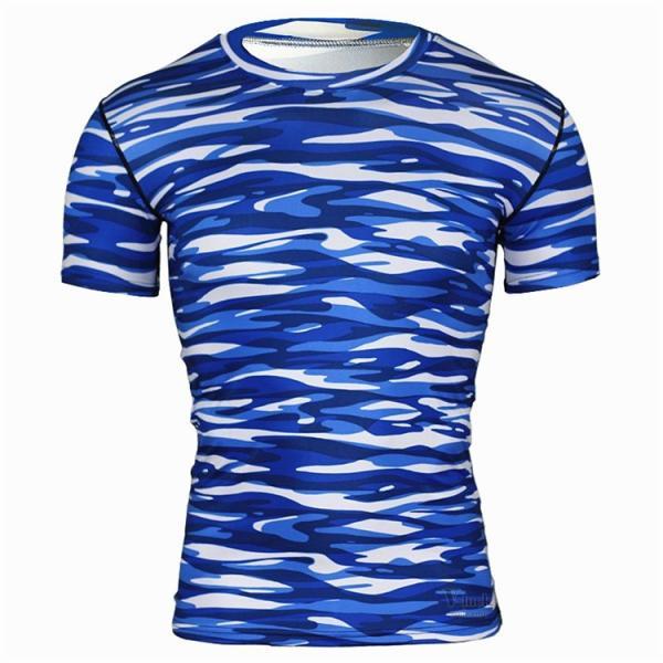 レーシングシャツ フィットネスウェア メンズ Tシャツ 半袖 コンプレッションウェア トップス 加圧シャツ アンダーシャツ トレーニング 吸汗速乾|otasukemann|15