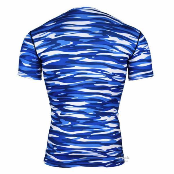 レーシングシャツ フィットネスウェア メンズ Tシャツ 半袖 コンプレッションウェア トップス 加圧シャツ アンダーシャツ トレーニング 吸汗速乾|otasukemann|16