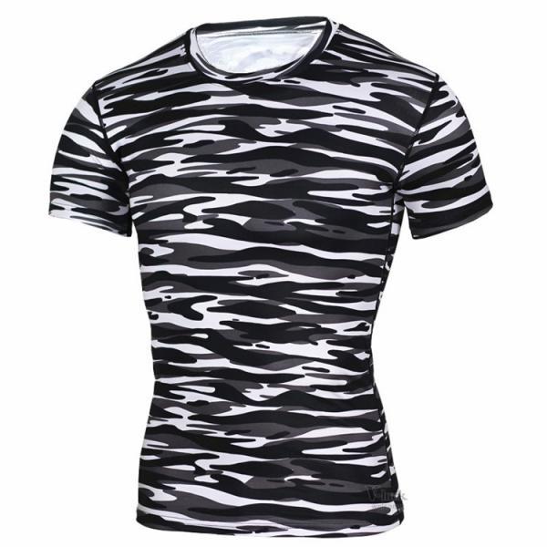 レーシングシャツ フィットネスウェア メンズ Tシャツ 半袖 コンプレッションウェア トップス 加圧シャツ アンダーシャツ トレーニング 吸汗速乾|otasukemann|17
