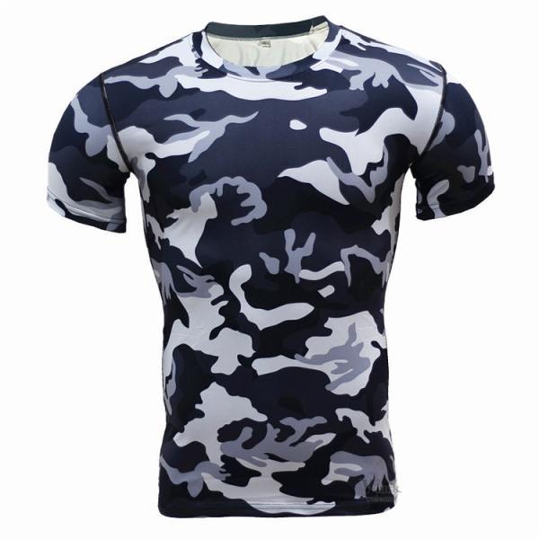 レーシングシャツ フィットネスウェア メンズ Tシャツ 半袖 コンプレッションウェア トップス 加圧シャツ アンダーシャツ トレーニング 吸汗速乾|otasukemann|19